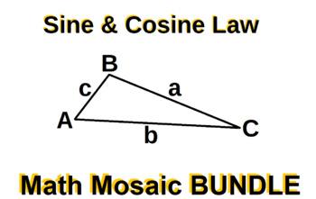 Sine & Cosine Laws - Collaborative Mosaic BUNDLE