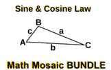 Sine & Cosine Laws - Collaborative Mosaic BUNDLE