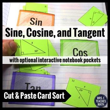 Sine Cosine Tangent Card Sort