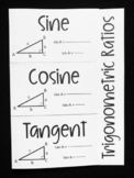 Sine, Cosine, and Tangent (Geometry Foldable)
