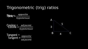 Sine, Cosine, and Tangent - PowerPoint Lesson (7.6)