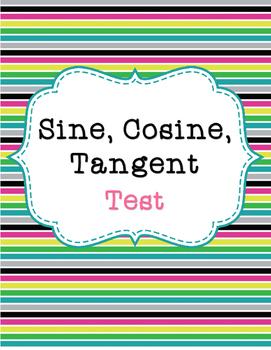 Sine, Cosine, and Tangent Test