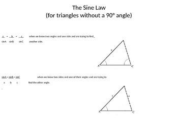 Sine Law and Cosine Law Trigonometry PowerPoint
