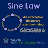 Sine Law - interactive discovery exercise - Geogebra