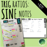 Sine Notes: Intro to Trig Ratios Foldable