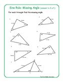 Sine Rule: Finding Missing Angles (FREE resource)