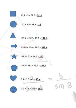 Sine Rule Trigonometry 'Sum it up' Activity