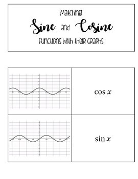 Sine and Cosine Matching Card Sort