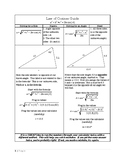 Sine and Cosine Rule Reference Sheet