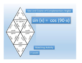 Sine and Cosine of Complementary Angles~Trig~Sin/Cos~Matching Activity