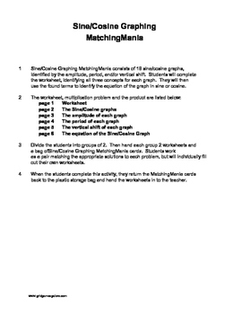 Sine/Cosine Graphing MatchingMania