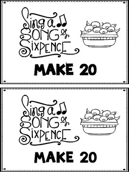 Sing A Song Of Sixpence Make 20 Booklet