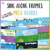 Sing Along Frames – Bundle (355 PNGs for Online Music)