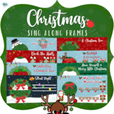 Sing Along Frames – Christmas (109 PNGs for Online Music)