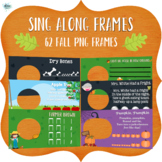 Sing Along Frames – FALL (62 PNGs for Online Music)
