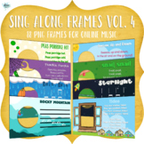 Sing Along Frames – Vol. 4 (88 PNGs for Online Music)