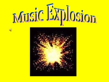 Sing Along Powerpoint to song Music Explosion