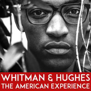 """Langston Hughes """"I Too Sing America"""" and Walt Whitman Paired Texts Poetry Lesson"""