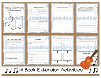 Sing, Don't Cry by Angela Dominguez 14 Book Extension Activities NO PREP