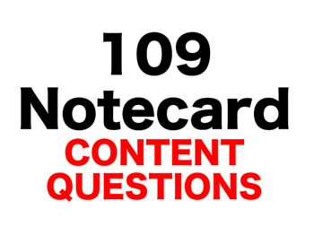 Sing Down the Moon 109 Content Questions Whiteboard Game