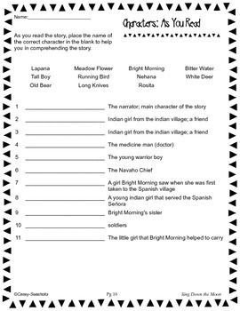 Sing Down the Moon Literature Kit: Tests, Vocabulary, Printables, and MORE!