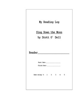 Sing Down the Moon by Scott O'Dell - Literature Circle Cut/Paste, No audio link