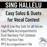 Sing Hallelu - Easy Solos & Duets for Vocal Contest (High