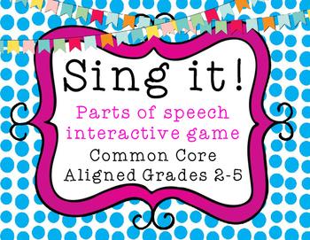 Sing It! Interactive Grammar Game - CC Aligned - Grades 2-5