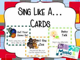 Sing Like... Card (Set of 31 Cards)
