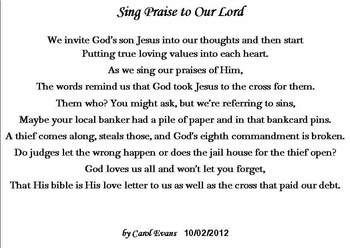 Sing Praise To Our Lord
