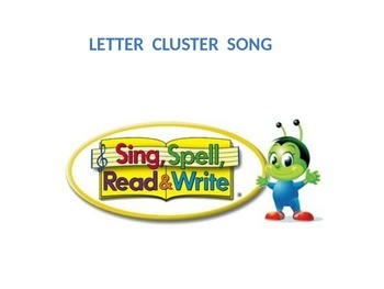 sing spell read write letter cluster song by bonnie franklin tpt