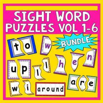 Sight Word Puzzles Bundle Volume 1-6 - Heidi Songs