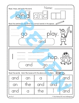 Sing & Spell Sight Words - AND