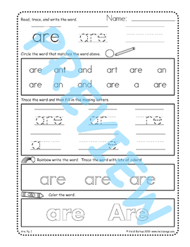Sing & Spell Sight Words - ARE