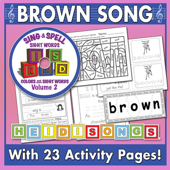Sing & Spell Sight Words - BROWN