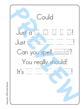 Sing & Spell Sight Words - COULD