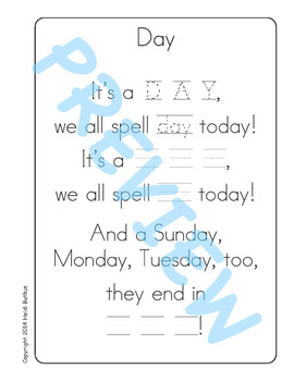 Sing & Spell Sight Words - DAY