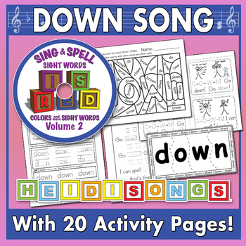 Sing & Spell Sight Words - DOWN