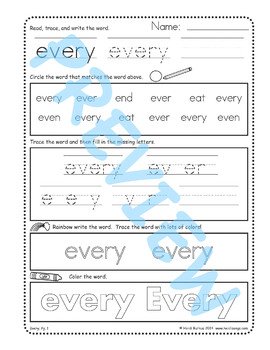 Sing & Spell Sight Words - EVERY