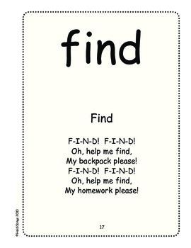 Sing & Spell Sight Words - FIND