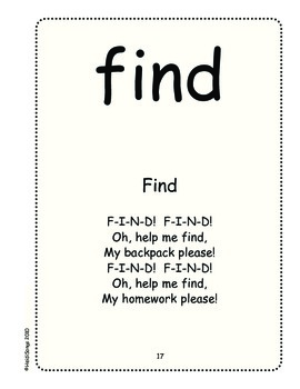 Sing & Spell Sight Words - FIND