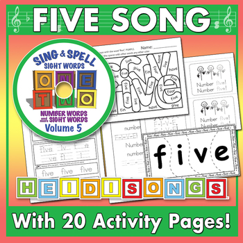 Sing & Spell Sight Words - FIVE