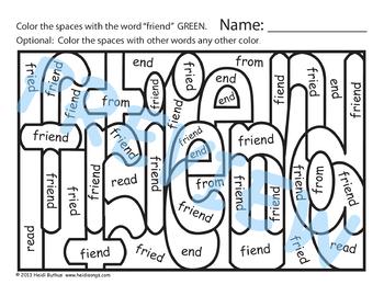 Sing & Spell Sight Words - FRIEND