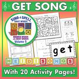 Sight Word GET - Worksheets & Song - Heidi Songs