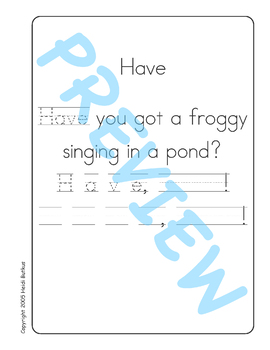 Sing & Spell Sight Words - HAVE