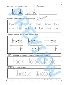 Sing & Spell Sight Words - LOOK