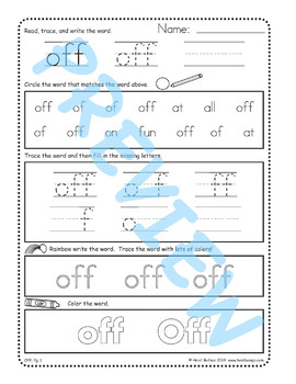Sing & Spell Sight Words - OFF