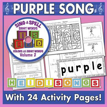 Sing & Spell Sight Words - PURPLE