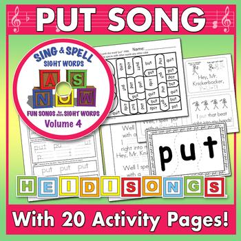 Sing & Spell Sight Words - PUT