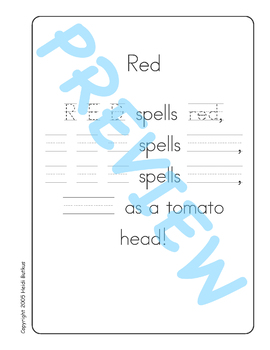 Sing & Spell Sight Words - RED